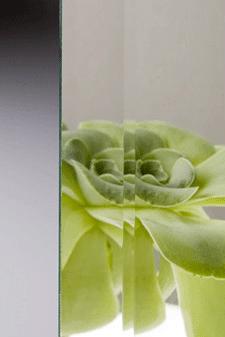 blank facetslebet spejl