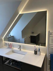 Spejl med LED lys